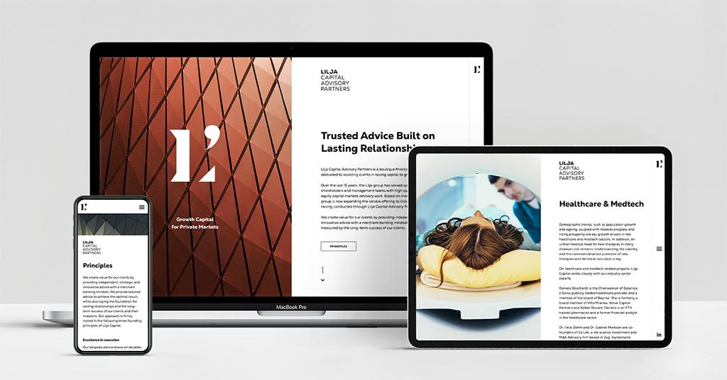 Lilja Capital Advisory Partners: Markenauftritt als Startkapital